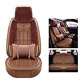 WYJW Coprisedile per Auto Coprisedile per Auto Invernale Short Plush Car Seat all-Inclusive Copripiumino Invernale (Colore: Marrone)