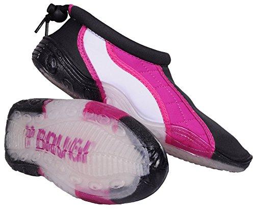 Brugi Watershoe bagnato da bagno, surf, acqua, per scarpe da donna, antiscivolo, rocce antiscivolo per proteggere 2SA9 & taglie vari - grau-rosa-weiß