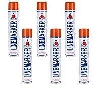 Aerosol Solutions Red Line Marker Marking Spray Paint x 6 750ml