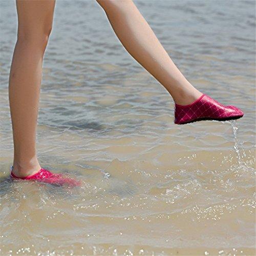 Eagsouni® Aquaschuhe / Schwimmschuhe / Strandschuhe / Wasserschuhe / Surfschuhe / Badeschuhe / Barfußschuhe für Damen Herren Kinder #1Stieg Rot