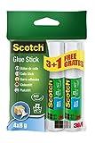 Scotch 6208P3+1 Klebestift Standard Promotion, lösemittelfrei, 8 g, 4 Stück