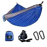 Ancmaple Camping Hängematte mit speziellen Baum-schonenden Gurten. Tragbare Hängematte aus