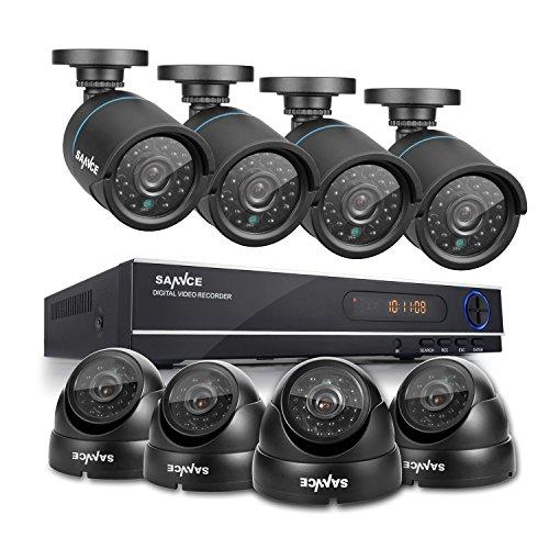 Video-Vigilancia-Vigilancia-8-CH-1080-N-AHD-DVR-Recorder-y-4-x-720p-Bullet-cmaras-y-4-x-720p-Dome-cmaras-de-vigilancia-IP66-impermeable-visin-nocturna-de-hasta-25-metros-para-vigilancia-interior-y-ext