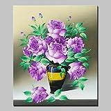HY&GG Von Hand Bemalt Blume Öl Gemälde Auf Leinwand Moderne Abstrakte Blumen Bild Mit Gespannten Rahmen Fertig Zum Aufhängen