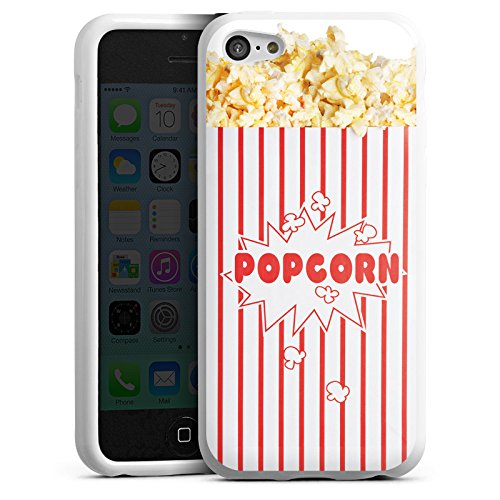 Silikon Hülle kompatibel mit Apple iPhone 5c Case Schutzhülle Popcorn Kino Design - Iphone Case-kino 5c