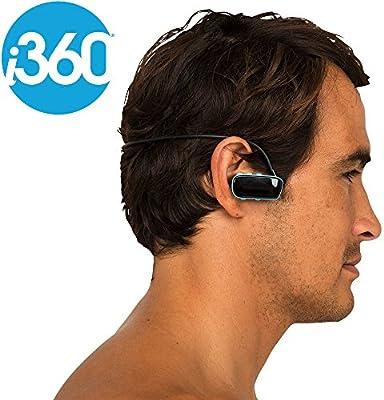 i360® Reproductor de música MP3de 4GB, inalámbrico, impermeable hasta 3metros, color negro. Para escuchar música sin complicaciones mientras corres, nadas o te entrenas.
