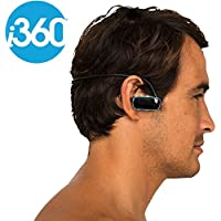 i360 Waterproof Swimming MP3 Player with Built in Headphones Underwater to 3 Meters Wireless Sport 8GB Music Player