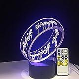 Señor de los anillos Ilusión 3D Lámpara de escritorio Lámpara de 7 colores 3D Regalo de los niños Luz táctil nocturna para niños Vacaciones Presente