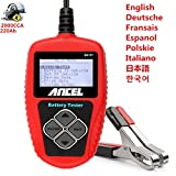 New Free Shipping Newest 3 Year Warranty ANCEL BA101 12V Car Battery Tester BA-101 Automotive Battery Analyzer 2000CCA 220AH Topest