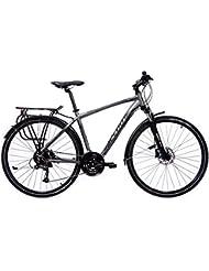 Bicicletas de Trekking Aluminio Bicis Cicloturismo Cloot Adventure M, Cambio Shimano 24 velocidades, Horquilla Suntour, Frenos de Disco Hidraulicos, Schwalbe Tyrago, Talla: De 1,70 a 1,85