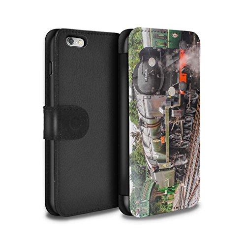 Stuff4 Coque/Etui/Housse Cuir PU Case/Cover pour Apple iPhone 6S+/Plus / Pack 20pcs Design / Locomotive Vapeur Collection Bodmin