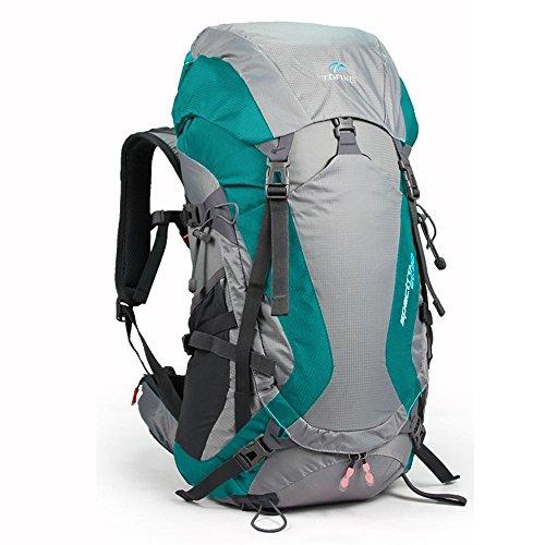 ALUK-All'aperto borsa tracolla alpinismo sospensione impermeabile e traspirante cavallo zaino da viaggio leggero Lago verde