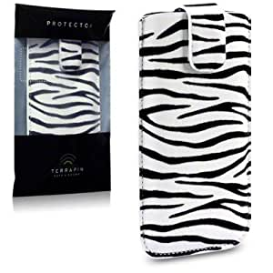 Terrapin PU Leather Pocket Case for iPhone 5S - Zebra Stripes
