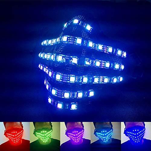 Fishyu 7 Farben Ändern LED-Licht Maske Party Festival Cosplay Drahtlose Steuerung DJ Bar Liefert