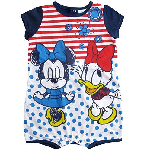 Minnie Mouse und Daisy Kollektion 2018 Strampelanzug 56 62 68 74 80 86 Stramplerkleid Kurz Einteiler Maus Disney (80-86, Blau)