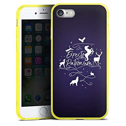 Apple iPhone 7 Silikon Hülle Case Schutzhülle Expecto Patronum Harry Potter Statement Silikon Colour Case gelb