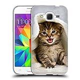 Head Case Designs Chaton Dans Serviette Chaude Chats Étui Coque en Gel molle pour Samsung Galaxy Core Prime