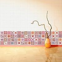 Walplus Wandaufkleber Ablösbar Selbstklebend Wandkunst Aufkleber Vinyl  Wohndeko DIY Wohnzimmer Schlafzimmer Küche Dekor Tapete Geschenk  Marokkanische