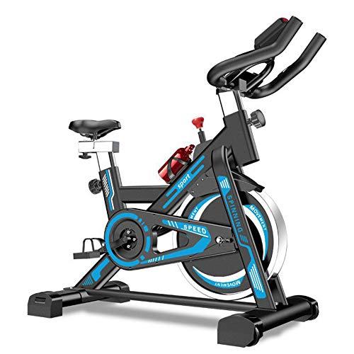 HLeoz Bicicleta Estática de Spinning Profesional, Ajustable Resistencia Pantalla Bicicleta Fitness...