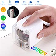 Temporary Tattoo Color Printer,Wireless Inkjet MINI Color Printer,Portable Multi-Surface Printer Tattoo Photo