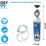 Oxy99 Portable Ultra Light Medical Oxygen Cylinders Boschi Italy (75 Liters)