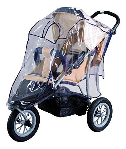 sunnybaby 13189 - Universal Regenverdeck, Regenschutz, Regenhaube für Jogger, 3-Rad-Kinderwagen | Kontaktfenster für optimale Luftzirkulation | glasklar | schadstofffrei | Qualität: MADE in GERMANY