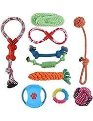 Perro Juguetes 10 Paquete Regalo Conjunto Durable Masticar Juguete Conjunto para Pequeña y Medio Perros