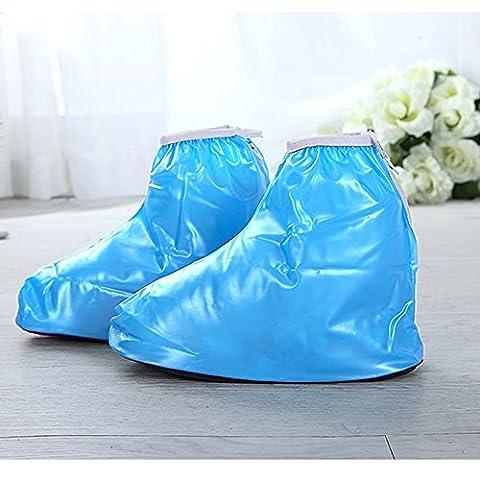 spritech (TM) enfants imperméable Shose Housses pour chaussures plates, bleu, Size £ºL(Sole length :24.5cm)
