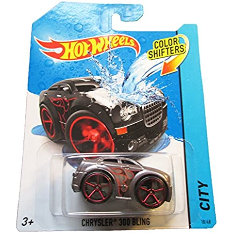 Hot Wheels City 2014 Color Shifters Chrysler 300 Bling 18/48 Red Line Tires by Hot Wheels