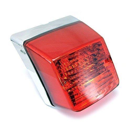 Luz trasera de alta calidad, diseño retro, para Vespa PX 125/150/200, cromo.