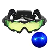 Zogin Adjustable Elastic Band Military Night Vision Goggles Glasses Security Eyeshield with Flip-out Lights