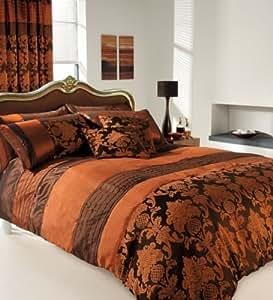 apachi parure de lit double housse de couette cuivre chocolat cuisine maison. Black Bedroom Furniture Sets. Home Design Ideas