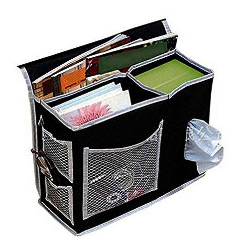 Keephen Nachttisch Caddy Oxford Stoff Aufbewahrungstasche Passt für TV-Fernbedienung, Handy-Brille, Buch Veranstalter (Nachttisch Caddy Veranstalter)