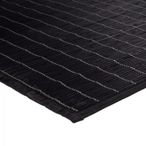 Monbeautapis Bali 159647Chic alfombra bambú 90x 60cm, bambú, negro, 90x60x10 cm