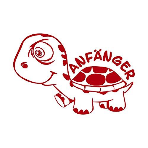 (Folistick Anfänger Turtle Schildkröte Aufkleber Autotattoo Autoaufkleber Ausführung Links (ROT))