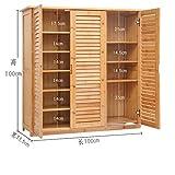 MCUWEHGFET Hölzerne Schuh-Schrank Bambus Schuh-Rack massivholz,Simple,schuhkarton lagerung-Zimmer Schuh-Rack Multilayer,Multifunktion,Veranda Door Cabinet-E