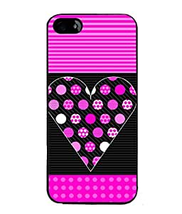 Fuson Designer Back Case Cover for Apple iPhone SE (Hearts Hello Kitty Cat Pink Love )