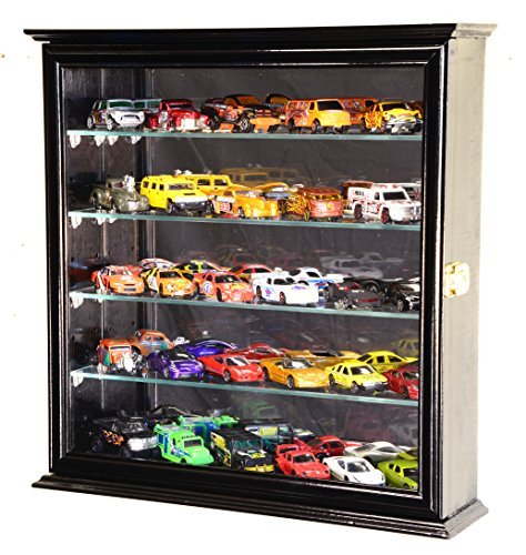 4-adjustable-shelves-mirrored-hot-wheels-matchbox-diecast-cars-1-64-model-display-case-cabinet-black