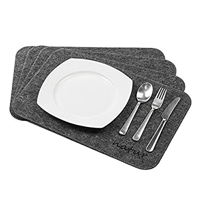 Natur® Menu felt dining table placemats for easy cleaning in set of 4