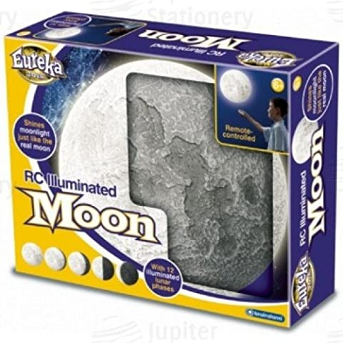 Remote Controlled Lunar Phase Illuminated Moon Night Light