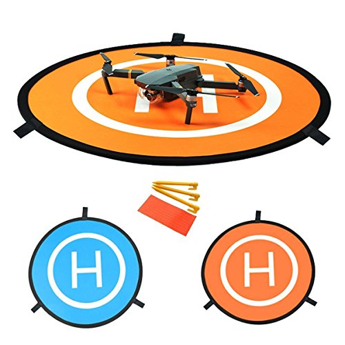 YUNIQUE Espagne® Pista de Aterrizaje Portátil Universal para Aviones no Tripulados RC Helicóptero dji Mavic Pro, Pro Phantom 2/3/4/4, Inspire 2/1, 3DR Solo, GoPro Karma