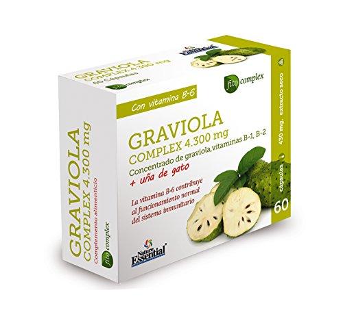 Graviola complex 4.300 mg 60 cápsulas con uña de gato, vitaminas B-1, B-2 y B-6