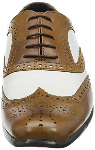 Red Tape Gatsby, Richelieu homme Brown (Tan/White)