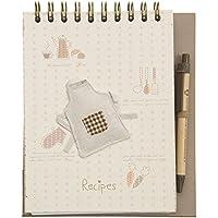 Clayre & Eef 6Pa0078ricetta ebuch ricetta libro libro di cucina grembiule da cucina grembiule bianco ca. 17x 20cm (54pagine)