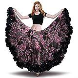 ROYAL SMEELA Danza del Ventre Femminile Gonna in Chiffon Voile Maxi Gonna  Completa Stile Tribale Gonne 411478e508f