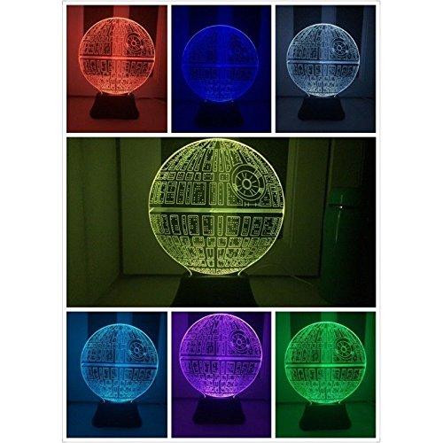 Lampada 3D a LED da tavolo Star Wars - modello Morte Nera