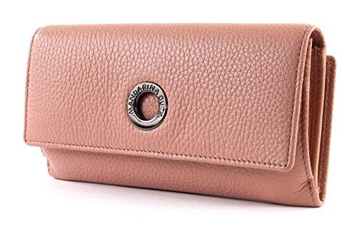 Mandarina Duck Mellow Leather Portafoglio - Portafogli Donna, Rosa (Dusty Rose), 3x10x20 cm (B x H T)