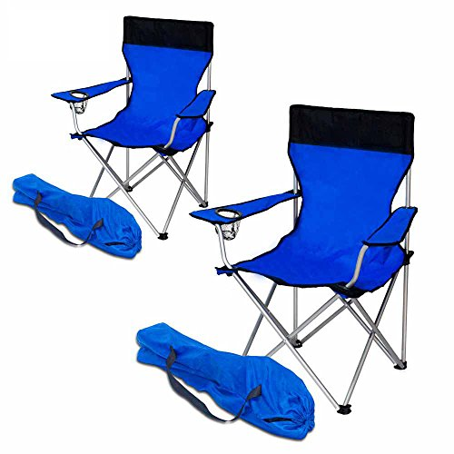 2x Campingstuhl Klappstuhl Gartenstuhl chip - 2er Set Anglerstuhl Faltstuhl NEU, Farbe:blau, Anzahl:2er Set