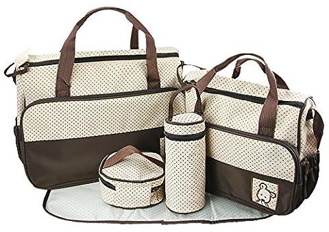 FakeFace 5 teiliges Baby Wickeltaschen Set Babytasche Wickeltasche Mutter Windeltasche