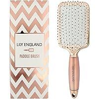 Spazzola Piatta Lily England perfetta per Districare, Stirare e Asciugare I capelli- Bronzo Chiaro
